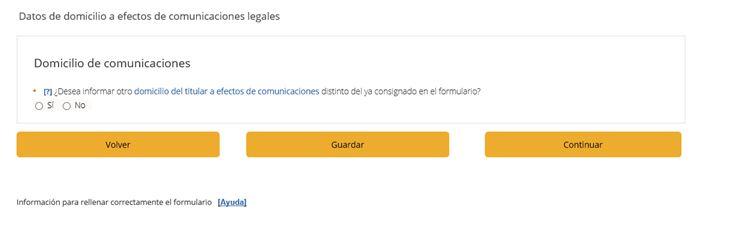 Domicilio de comunicaciones
